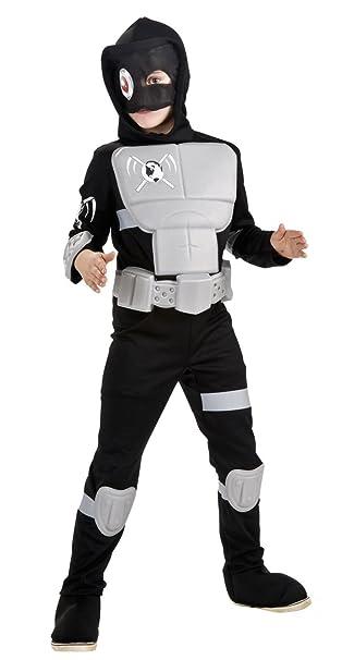 Amazon.com: Rubie s Deluxe Stealth Ninja Costume, L, Como ...