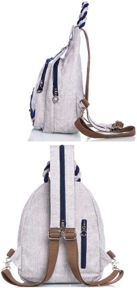 YiCanGg Backpack 211234cm Boutique Ethnic Style Literary Embroidery Woven Casual Shoulder Bag Shoulder Bag Travel Bag
