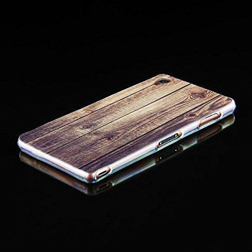 Ooh. Color 025605_ mte014bois avec motif en silicone souple TPU Bumper pour Apple iPhone 5/5S Transparent