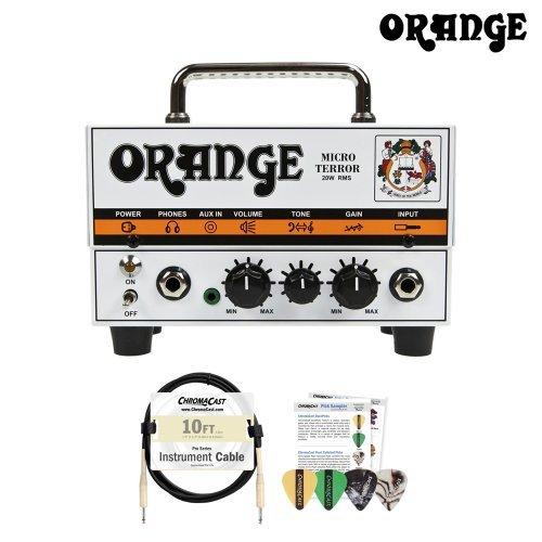 Orange MT20 Micro Terror 20-watt Amp Head with 10ft Cable and Pick Sampler by Orange