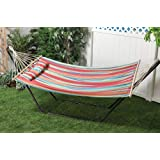 Medium image of bliss hammocks bh 404b oversized hammock with spreader bar and pillow   tropical fruit