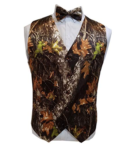 - VSTEXTILE Camouflage Vests with Tie for Wedding Groom Wear Man camo Prom Vest (5XL)