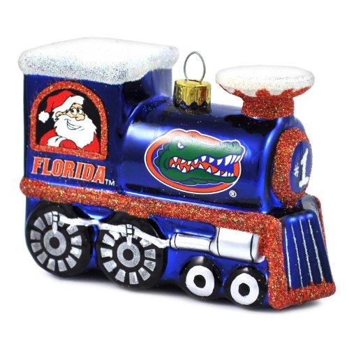 - NCAA Florida Gators Blown Glass Train Ornament
