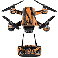 Skin for DJI Spark Mini Drone Combo - Orange Camo| MightySkins Protective, Durable, and Unique Vinyl Decal wrap cover | Easy To Apply, Remove, and Change Styles | Made in the USA