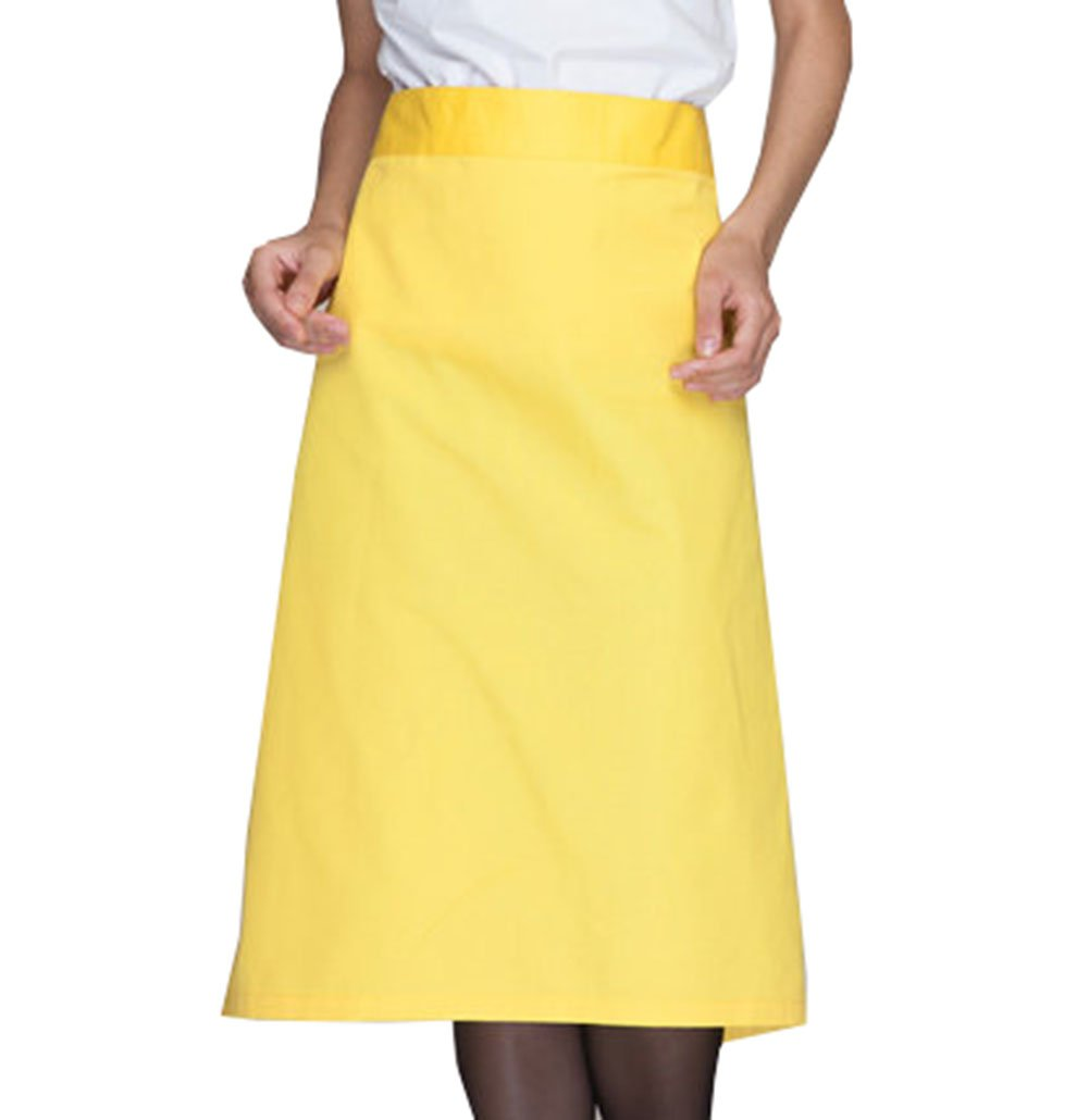 Mens Half Bistro Server Apron Chef Cook Apron Kitchen Hotel Food Service Apron (Yellow(Normal))