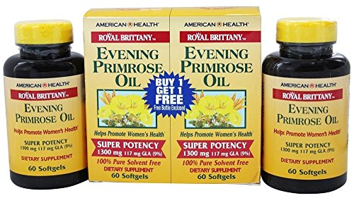 American Health Royal Brittany Evening Primrose Oil Super Potency (60+60) Twin Pack Special 120 Softgels
