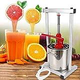 Steel Fruit Press Cider Grape Crusher Juice Maker Fruit Crusher Fruit Grinder Silver US Warehouse