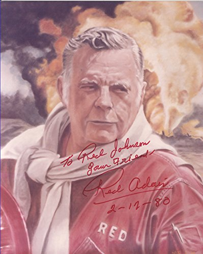 Red Adair Signed and Inscribed 8 X 10 Photograsph 2/12/1980