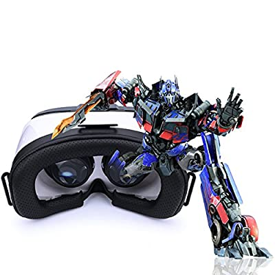 MEMO5th 3D VR Virtual Reality, 3D Glasses Headset, VR Goggles for Google, iPhone, Samsung, LG, Huawei, HTC, Moto screen Smartphone.