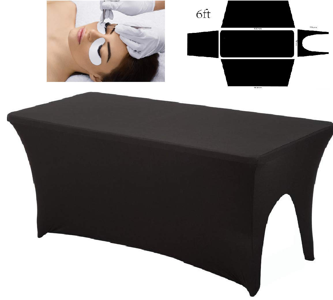Perfectly Fitted Spa Bed Cover for Stylist Lash Bed or Massage Table - fitted sheet - Cosmetologist Table Cover - Includes ARTIST CUT-OUT (Blank)