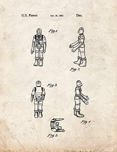 "Star Wars Bossk Patent Print Art Poster Old Look (18"" x 24"")"