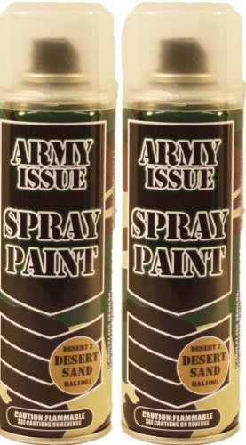 2 x Military Vehicle & Equipment Army Camouflage Spray Pa...