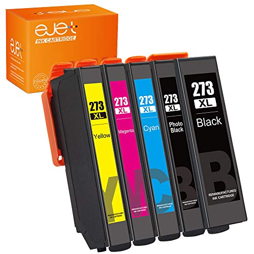 (ejet Remanufactured Ink Cartridge Replacement for Epson 273XL 273 to use with XP-800 XP-810 XP-820 XP-600 XP-610 XP-620 XP-520 Printer (1 Black, 1 Photo Black, 1 Cyan, 1 Magenta, 1 Yellow) 5 Pack)