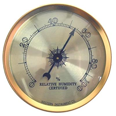 Analog Hygrometer by Western Humidor