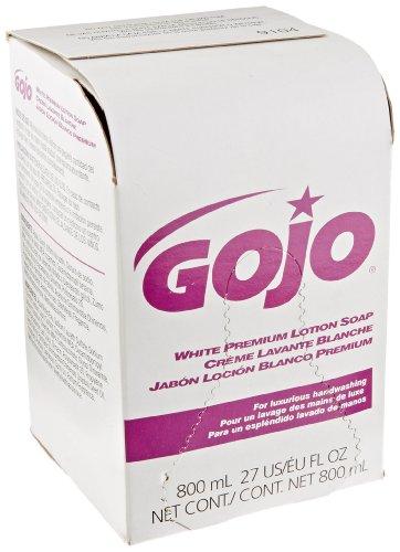 GOJO 800 Series Bag-in-Box Premium Lotion Hand Soap, 800 mL Hand Soap Refill for GOJO Bag-in-Box Push-Style Dispenser - ()