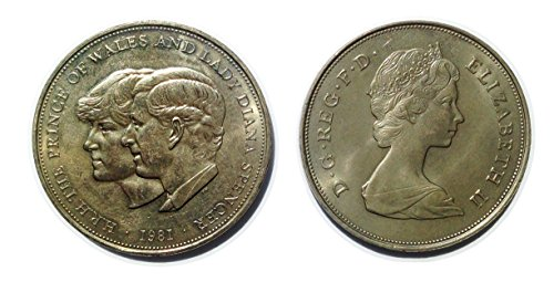 Stampbank The Prince Of Wales And Lady Diana Spencer Commemorative crown coin from 1981 (Royal Commemorative Coins Mint)