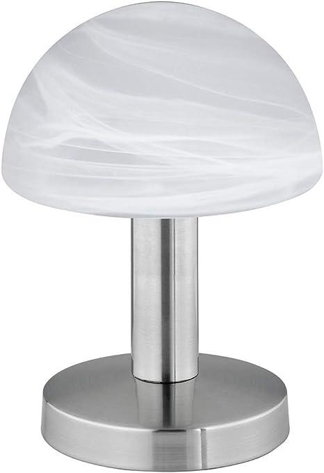 Flexible LED Tischleuchte Lampenschirm Glas satiniert Nachttischlampe Flurlampe