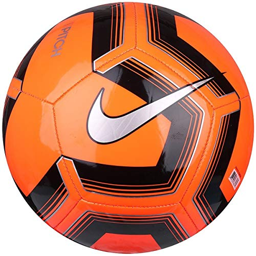 Nike Pitch Training Soccer Ball (Orange/Black/Silver, 5) Adidas Orange Soccer Ball