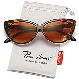 Pro Acme Cat Eye Sunglasses Clout Goggles Vintage Narrow Style Retro Kurt Cobain Sunglasses (Tortoise Frame/Brown Lens)