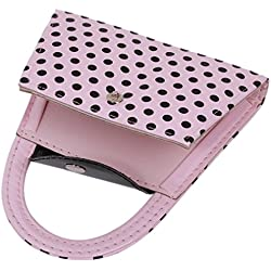 SOURBAN Pink Polka Dot Purse Manicure Set Bridesmaid Gift