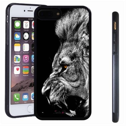 iphone 7 8 Plus case, SoloShow(R) Slim Shockproof TPU Soft Case Rubber Silicone for Apple iphone 7 8 Plus [lion] ()