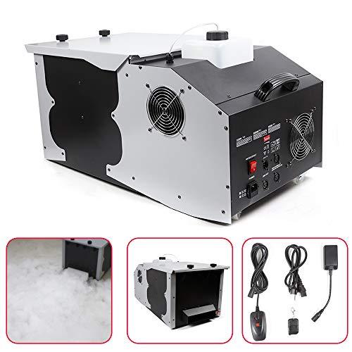 110V 3000W Low Fog Machine DMX512 Dry Ice Effect Stage Smoke Machine DJ Stage Atmospheric Stage Effect 40000cu.ff/min
