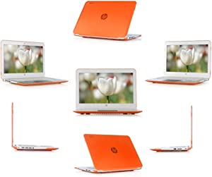 "iPearl mCover Hard Shell Case for 14"" HP Chromebook 14 G3 X000 Series, Chromebook 14 G4 (T4M32UT#ABA Series), Chromebook 14-ak000 Series, Stream 14-Z000 Series Windows laptops (Orange)"