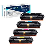 LCL Compatible for HP 202A 202X CF500A CF500X CF501X CF502X CF503X (4-Pack Black Cyan Magenta Yellow) Toner Cartridge for HP Color LaserJet Pro M254dw MFP-M281dw MFP-M281CDW