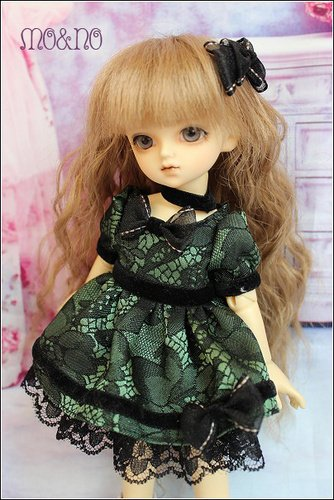 Free Gift /BJD DOLL Clothes 1/6 MSD DD BJD Retro Dinner Dress Skirt Suit Outfit / 5 Colors to Choose