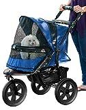 Pet Gear No-Zip AT3 Pet Stroller, Zipperless Entry, Midnight River
