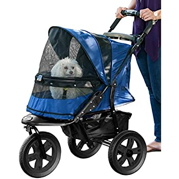 Pet Gear No-Zip AT3 Pet Stroller, Zipperless Entry, Midnight River