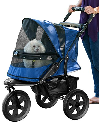 Pet Gear No-Zip AT3 Pet Stroller, Zipperless Entry, Midnight River by Pet Gear