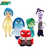 "TalentPZ eco-friendly Halloween Christmas Birthday Gift Children Kids 5 Pieces ""Inside Out"" Stuffed Puppet Dolls Plush Toys Set 5 Small (Height:13-20cm / 5.12-7.88""£"