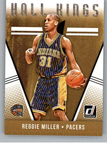 2018-19 Donruss Hall Kings Basketball Card #24 Reggie Miller Indiana Pacers Official NBA Trading Card Produced By Panini Basketball 24 Pack Trading Cards