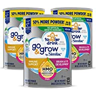 Go & Grow by Similac Toddler Drink with 2'-FL HMO for Immune Support, with 25 Key Nutrients to Help Balance Toddler Nutrition, Non-GMO Milk-Based Powder, 36 oz Can, Pack of 3