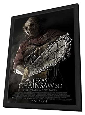 Texas Chainsaw 3D 27 x 40 Movie Poster - Style C - in Deluxe Wood Frame