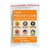 37 Micron | Premium Nylon Tea Filter Press Screen Bags | 1.5'' x 4'' | 25 Pack | Zero Blowout Guarantee | All Micron & Sizes Available