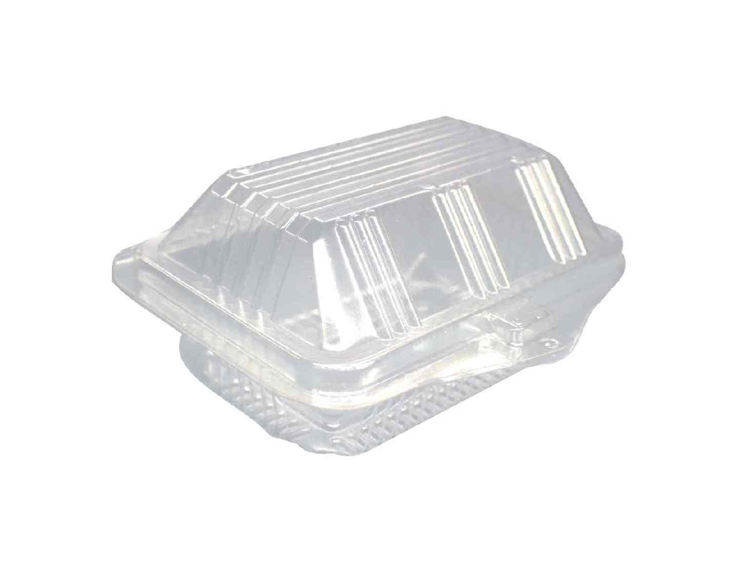 Choice-Pac L1P-1152L Polyethylene Terephthalate Tri Top Deep Herb Rectangular Clamshell Container, 5-1/16'' Length x 4-1/8'' Width x 2-1/4'' Height, Clear (Case of 1000)