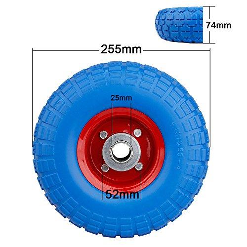 Speed Rueda para carretilla PU Rueda goma ruedas Cochecitos de rueda para carretilla goma Cilindro de rueda de poliuretano: Amazon.es: Coche y moto