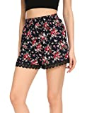 OURS Women Sexy Hot Pants Summer Casual Boho Printed Short Beach Shorts (XXL, Type1)
