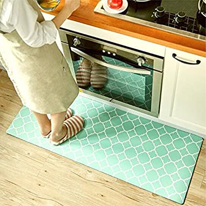 ukeler kitchen rugwaterproof kitchen rug runner washable non slip durable bathroom rug - Kitchen Rug Runners