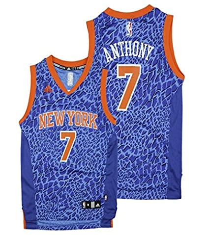 980ef96e0 adidas New York Knicks NBA Big Boys Youth Carmelo Anthony  7 Crazy Light  Swingman Jersey