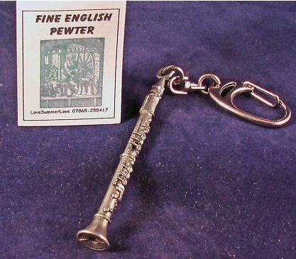 Llavero de Metal estaño madera clarinete: Amazon.es: Hogar