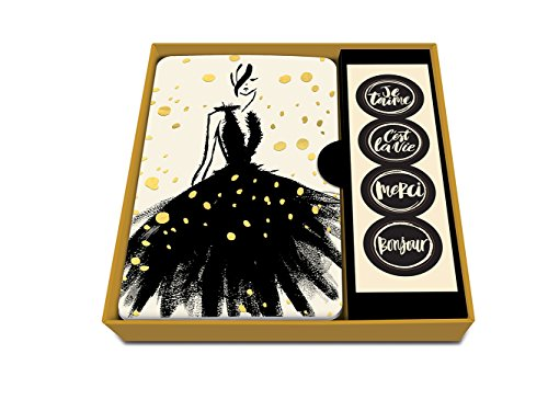 Price comparison product image Studio Oh! 87216 Gold Foil Fashion Notecard Set with Stickers (Box of 12)