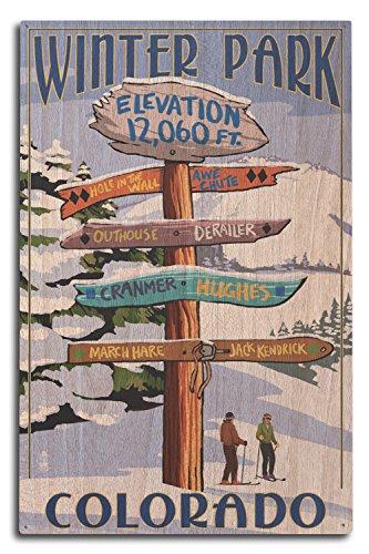 Lantern Press Winter Park, Colorado - Destinations Sign (10x15 Wood Wall Sign, Wall Decor Ready to Hang)