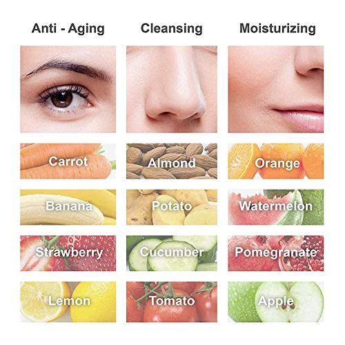 JJ.Yoma Facial Cream Maker Machine, Professional Facial Mask Machine Collagen Fruit Vegetable DIY Automatic Facial Care Masks Maker Machine with Human Voice Reminder