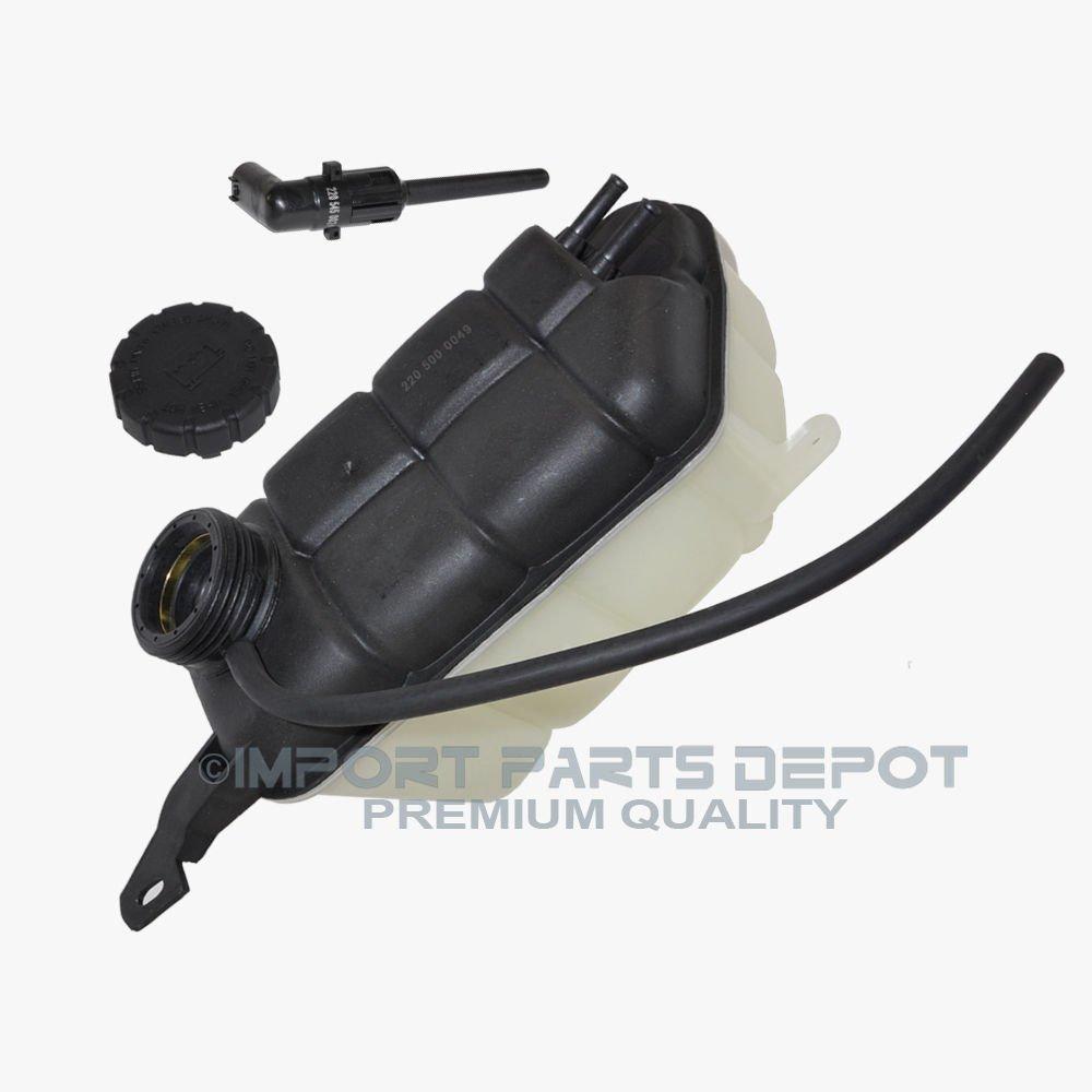 Coolant Reservoir Expansion Tank +Cap +Sensor Kit Mercedes W220 S350 S430 S500 S55 AMG S600 S65 AMG G500 G55 AMG CL500 CL55 AMG CL600 CL65 AMG Premium Quality 2205000049/2105010615/2205450024