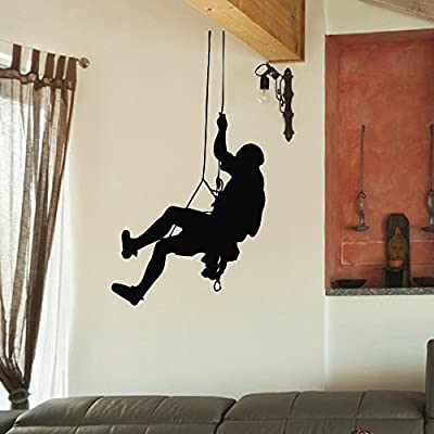 Wall Decal Vinyl Sticker Gym Sport Rock Climbing Climber Decor Sb236