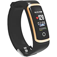 SOULFIT Amaze HR with Blood Pressure Monitoring, Sleep Analysis,OLED Display Activity Tracker Smart Band (Black) with Integrated USB Charger (No Separate Charger Required)