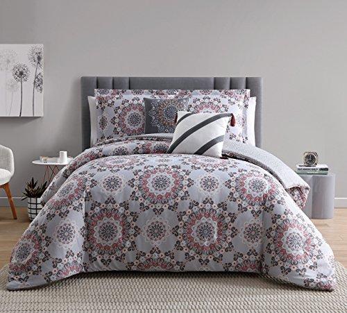 renee taupe coral reversible comforter